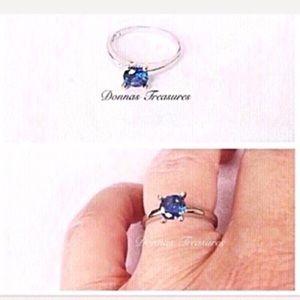 💐.25 Carat Blue Crystal Birthstone Ring